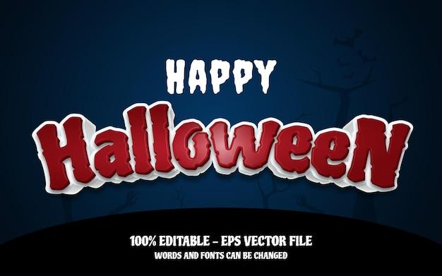 Bewerkbare teksteffect illustraties in vrolijke halloween-stijl