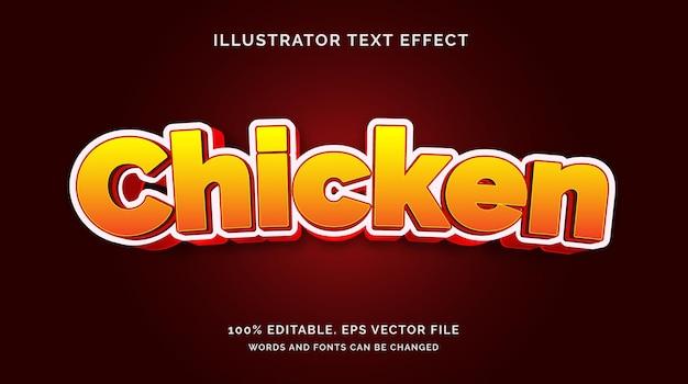Bewerkbare teksteffect kipstijl