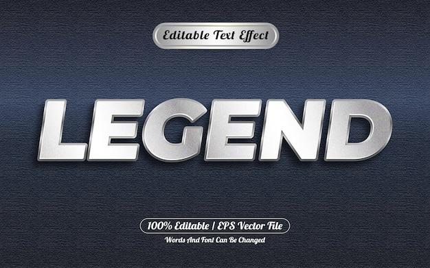 Bewerkbare teksteffect legendestijl zilver