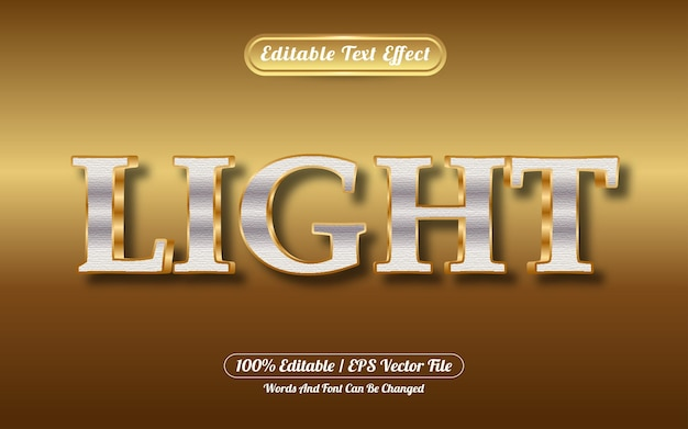 Bewerkbare teksteffect lichtgouden stijl