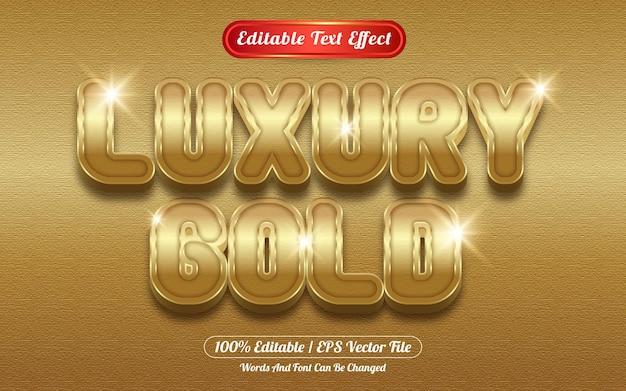Bewerkbare teksteffect luxe gouden sjabloonstijl