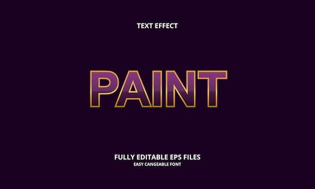Bewerkbare teksteffect ontwerpsjabloon verf titelstijl