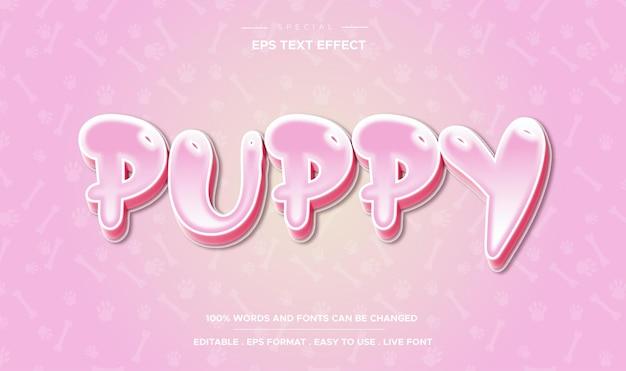 Bewerkbare teksteffect puppystijl