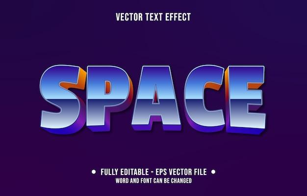 Bewerkbare teksteffect retro ruimtestijl