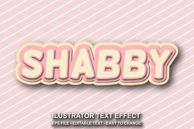 Bewerkbare teksteffect shabby stijl