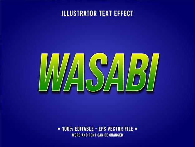 Bewerkbare teksteffect sjabloon frisse groene wasabi-stijl