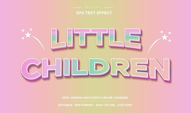 Bewerkbare teksteffect stijl voor kleine kinderen
