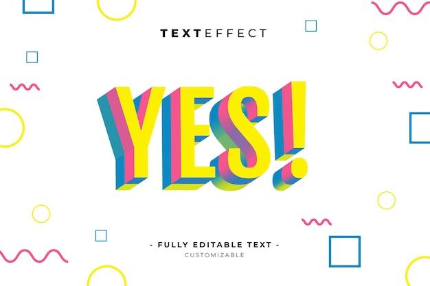 Bewerkbare teksteffect stijlsjabloon premium vector