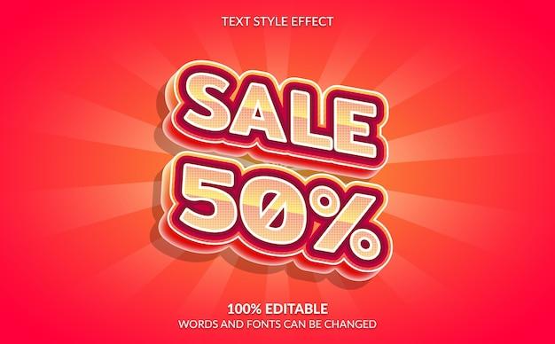 Bewerkbare teksteffect verkoop tekststijl