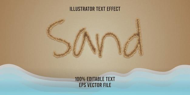 Bewerkbare teksteffect zandstijl