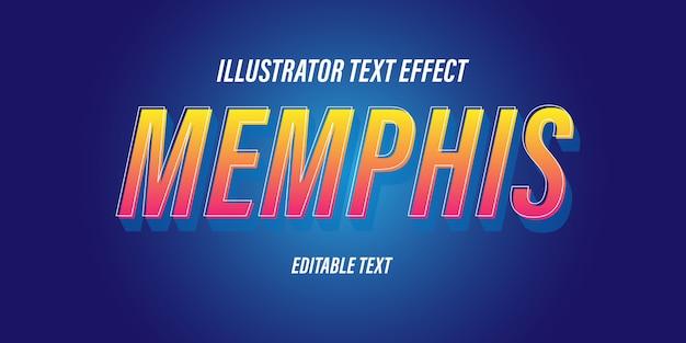 Bewerkbare teksteffecten met leuke blauwe en oranje thema's en speelse 3d-effecten