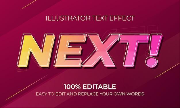 Bewerkbare teksteffecten - volgende teksteffecten