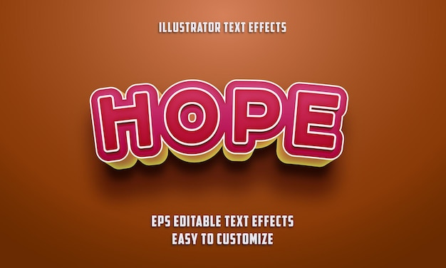 Bewerkbare teksteffectenstijl op oranje en roze kleur
