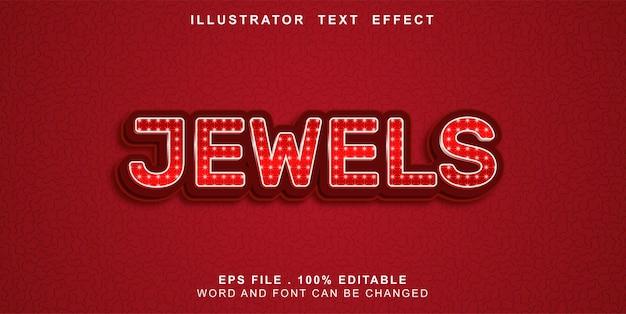 Bewerkbare teksteffectjuwelen