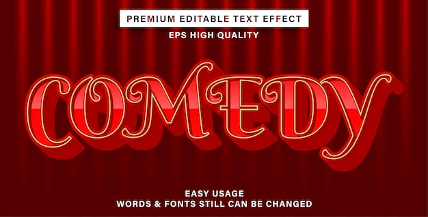 Bewerkbare teksteffectkomedie