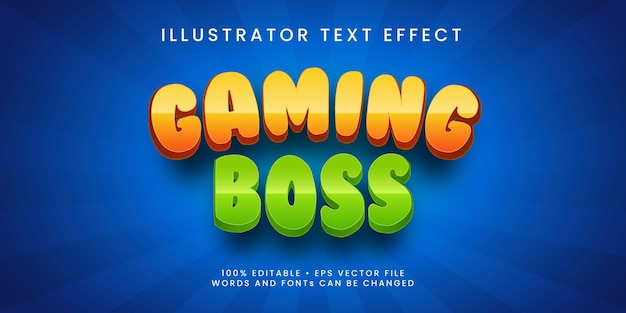 Bewerkbare teksteffectpremie in gaming-baasstijl