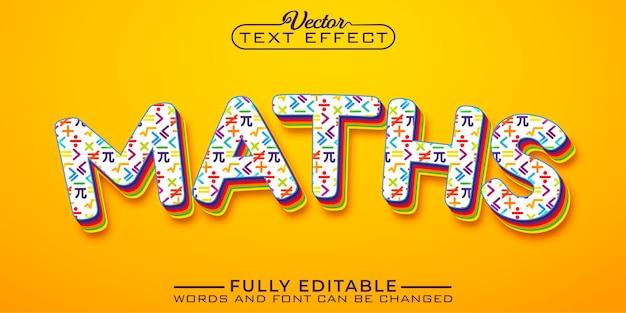 Bewerkbare teksteffectsjabloon voor wiskunde voor kinderen