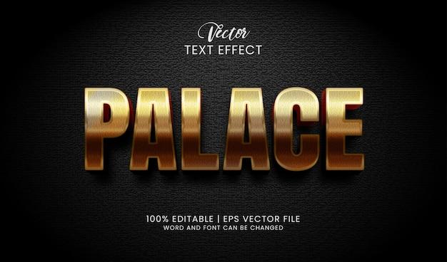 Bewerkbare teksteffectstijl gouden paleis