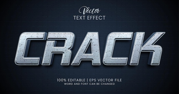 Bewerkbare teksteffectstijl kraken Premium Vector