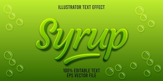 Bewerkbare teksteffectstroop