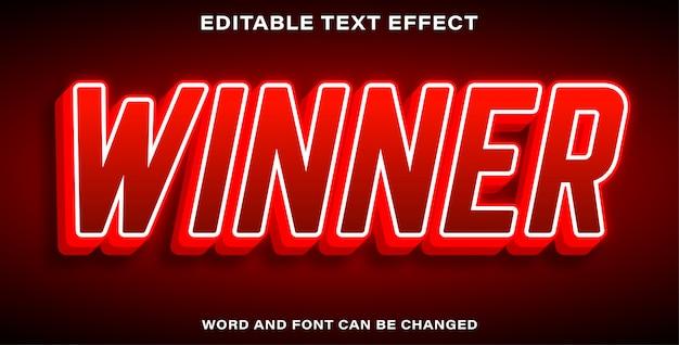 Bewerkbare teksteffectwinnaar