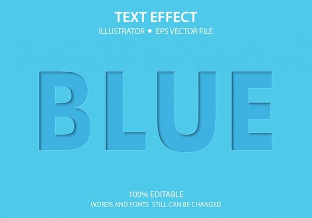 Bewerkbare tekststijl effect blauw papier