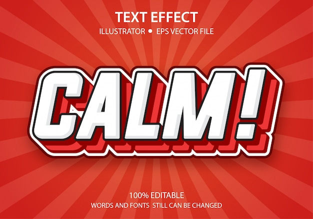 Bewerkbare tekststijl effect kalm