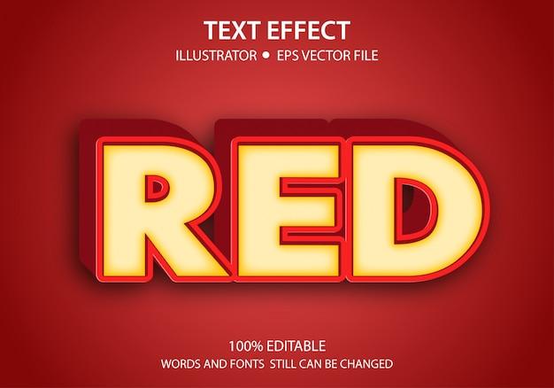 Bewerkbare tekststijl effect modern red premium