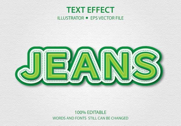 Bewerkbare tekststijl effect naaipapier premium
