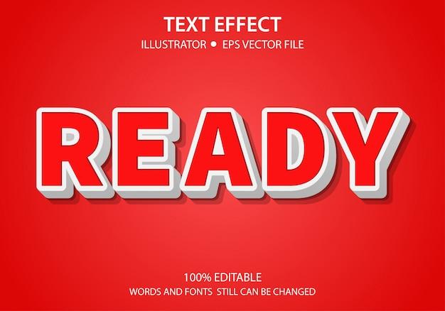 Bewerkbare tekststijl effect ready vector