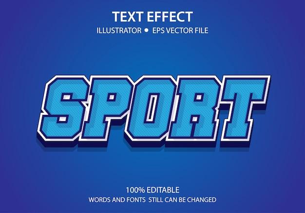 Bewerkbare tekststijl effect sport vector