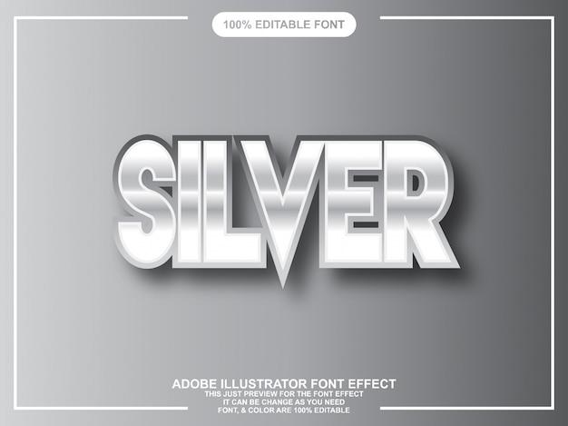 Bewerkbare typografie in zilveren grafische illustrator