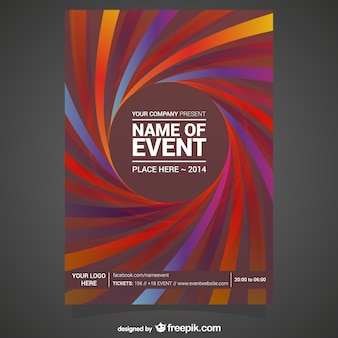 Bewerkbare vector poster vrij abstract ontwerp