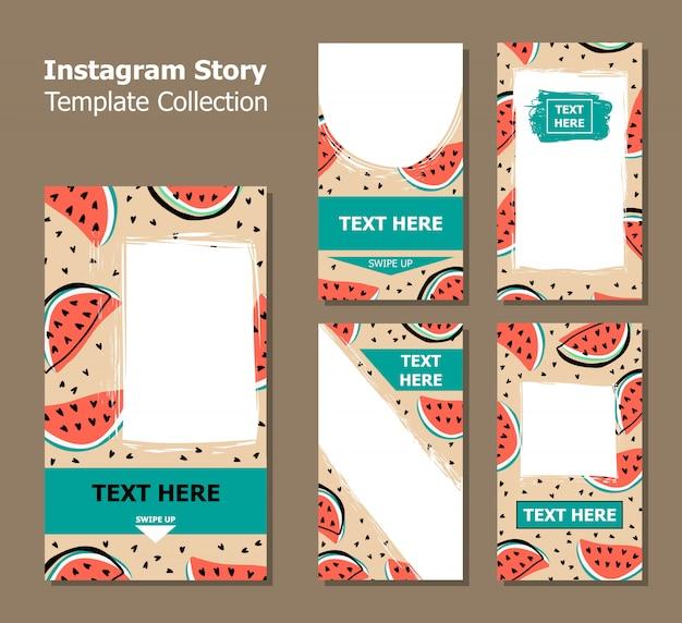 Bewerkbare verhalen sjabloon sociale media voor digitale marketing