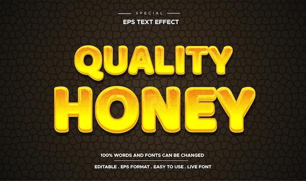 Bewerkbare vloeibare honing teksteffect 3d-sjabloonstijl