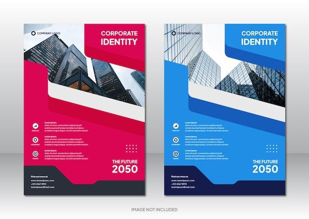 Bewerkbare zakelijke brochure ontwerp achtergrondsjabloon design
