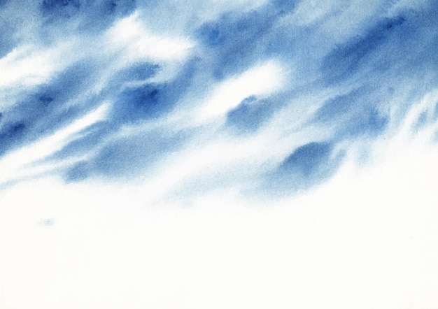 Bewolkte hemel aquarel natuur achtergrond
