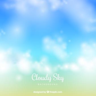 Bewolkte hemelachtergrond in realistische stijl