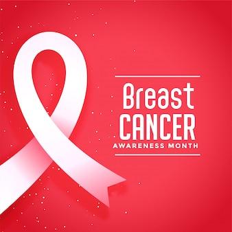 Bewustmakingsmaand voor borstkanker ziekte poster