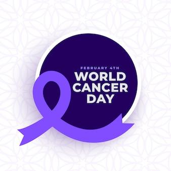 Bewustzijn poster voor wereld kanker dag