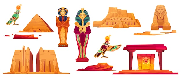 Bezienswaardigheden van het oude egypte