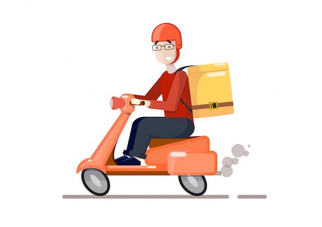 Bezorging per scooter