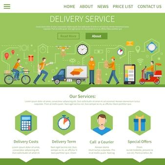 Bezorgservice webontwerp