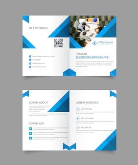 Bi-gevouwen brochure sjabloon