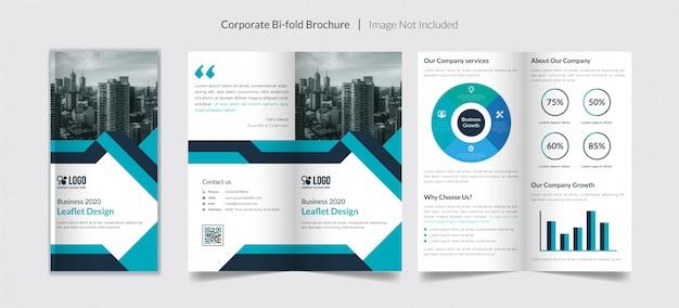 Bi-voudige brochure voor bedrijven