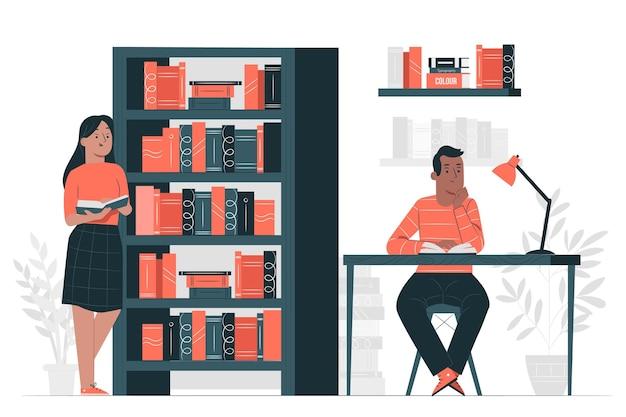 Bibliotheek concept illustratie