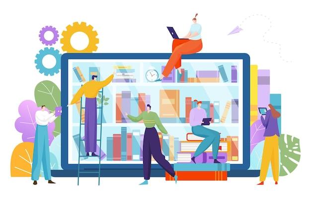 Bibliotheek met moderne technologie-applicatieboeken