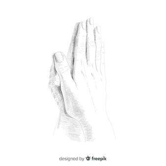 Biddende handen achtergrond