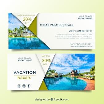 Bieden banners voor uw zomervakantie