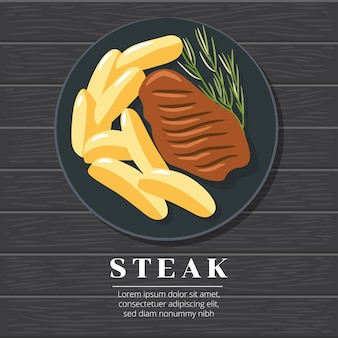Biefstuk vector grafisch ontwerp